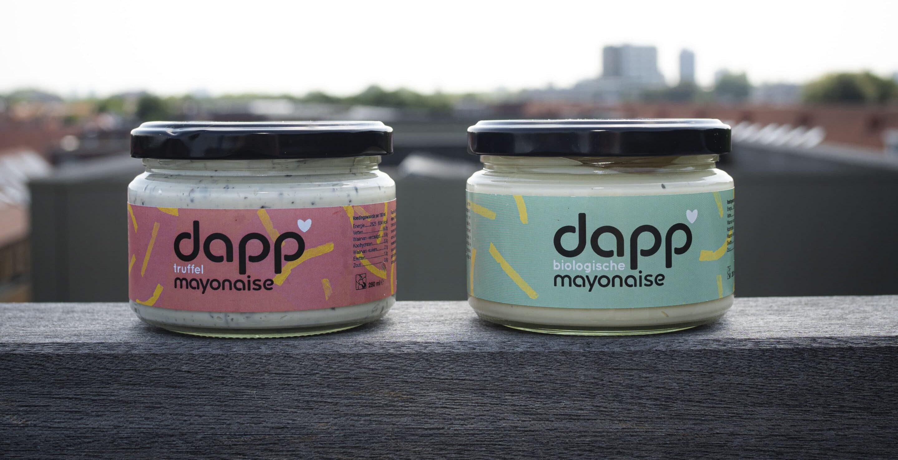 Biologische mayonaise in een potje